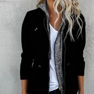Jackets & Blazers - VICI Midnight Tryst Black Cotton Jacket